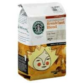 Starbucks  Half Caffeinated Breakfast Blend Ground Coffee-12 oz