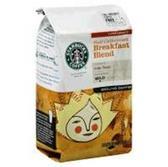 Starbucks  Half Caffeinated Breakfast Blend Ground Coffee-12 oz