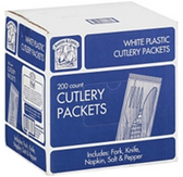 Bakers & Chefs Plastic Cutlery Packets-200ct