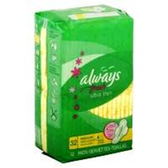 Always Fresh Ultra Thin Regular With Wings Pads - 28 Count