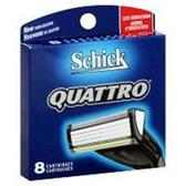 Schick Quattro Razor Refill - 8 Count