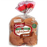 Sara Lee Soft Smooth Wheat Hamburger Buns -8 ct