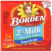 Borden 2% American Cheese Slices -8 ct