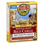 Earth's Best Whole Grain Organic Rice Baby Cereal