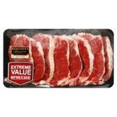Beef New York Strip Steak Boneless Thin - 2LB