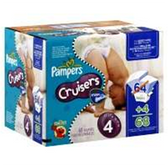 Pampers Cruisers Diapers with Dry Max Size 4
