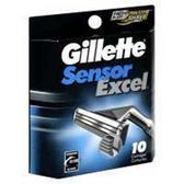 Gillette Sensor Excel Razor Cartridges - 10 Count