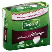 Depend Underwear For Women XL - 14 Count