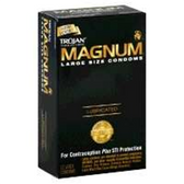 Trojan Magnum Lubricated Condom - 12 Count
