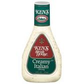 Ken's Steakhouse Creamy Italian Dressing -16 oz