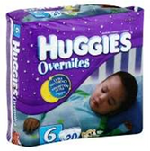 Huggies Overnites Diapers Size 6