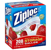 Ziploc Double Zipper Storage Gallon