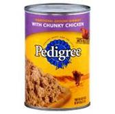 Pedigree Dog Food Chunky Chicken - 22 Oz