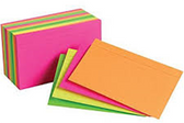 Neon Index Card -100ct