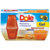 Dole Fruit Bowls in Orange Gel Mandarins - 4 pk