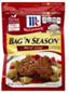 McCormick Bag 'N Season Meat Loaf Cooking Bag&Seasoning Mix,1.37
