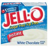 Jell-O Sugar Free Fat Free Instant White Chocolate Pudding-1 oz