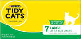 Purina Tidy Cats Drawsting Litter Box Liner Liners -8ct