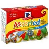 Mccormick Food Color Assorted-1 Fl. Oz