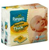 Pampers Baby Wipes Sensitive 3x Refill Thick Care