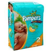 Pampers Baby Dry Diapers Size 2 - 42 pk