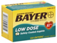 Bayer Aspirin Pain Reliever/Fever Reducer Low Dose 81 mg Coated