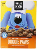Blue Dog Bakery Dog Paws peanut Butter Doggie Ttreats-10oz