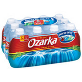 Ozarka Bottled Water 12 pk
