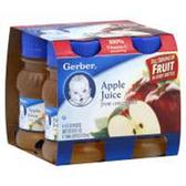 Gerber Apple Juice - 4 - 4 fl. Oz