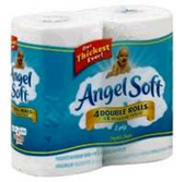 Angel Soft Double Roll White Bathroom Tissue - 4 Roll
