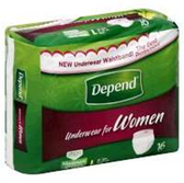 Depend Super Plus Absorbency Underwear Large Female - 16 Count