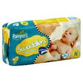 Pampers Swaddlers Diapers with Dry Max Newborn