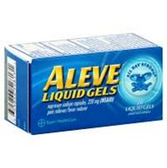 Aleve Naproxen Sodium Liquid Gels - 20 Count