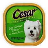 Cesar Canine Cuisine Top Sirloin Flavor In Meaty Juices Dog Food