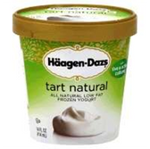 Haagen Dazs Low Fat Frozen Yogurt Tart Natural-14 fl oz