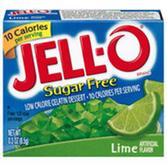 Jell-O Sugar Free Lime Gelatin Dessert - 3 oz