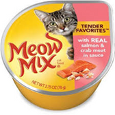 Meow Mix Tendor Favorites Salmon & Crab Meat -2.75oz