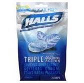 Halls Sugar Free Mountain Menthol Cough Drops - 25 Count