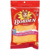 Borden Finely Shredded Sharp Cheddar Cheese - 8 oz