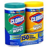 Clorox Fresh And Lemon Scent Disinfecting Wipes Twin Pack-2-75ct