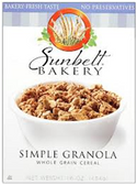Sunbelt Bakery Simple Granola Whole Grain -16 oz