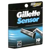 Gillette Sensor Razor Cartridges - 10 Count
