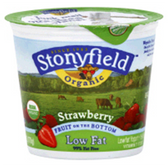 Brown Cow Organic Strawberry Fruit On The Bottom Yogurt