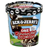 Ben and Jerrys One Cheesecake Brownie Ice Cream-16 oz