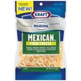 Kraft Shredded Mexican 4 Cheese w/Philadelphia Cream Cheese 8oz