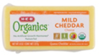 Store Brand Organics Mild Cheddar Block Cheese -8oz