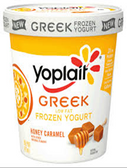 Yoplait - Honey Caramel Greek Frozen Yogurt -1 pint