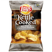 Lay's Kettle Cooked Sea Salt & Cracked Pepper Potato Chips-10 oz