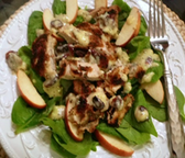 Crispy Chicken, Apple, and Spinach Salad