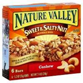Nature Valley Cashew Sweet And Salty Nut Granola Bars-6 pk